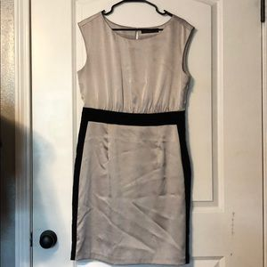 The Limited Silver Dress Black Colorblock
